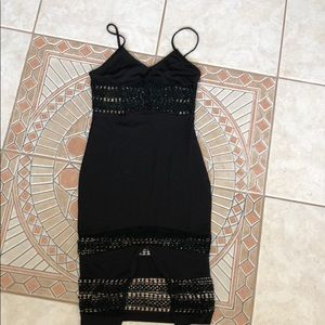 BLACK Spaghetti Cut Out Dress |Size M|
